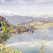 The Lake Of Lucerne, Mount Pilatus Art Print