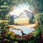 The Lake Path Art Print