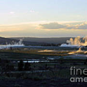 The Land Of Geysers. Yellowstone Art Print