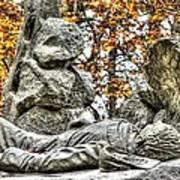 The Last Full Measure - Gettysburg National Military Park Autumn Art Print