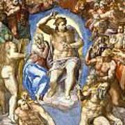 The Last Judgment - Detail Art Print