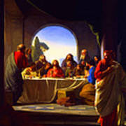 The Last Supper By Carl Heinrich Bloch Art Print