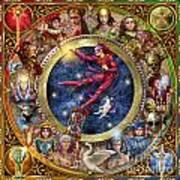 The Legacy Of The Devine Tarot Art Print by Ciro Marchetti
