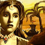 The Legend Actress Madhubala Art Print