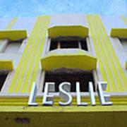 The Leslie Hotel Art Print