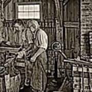 The Lesson Sepia Art Print by Steve Harrington