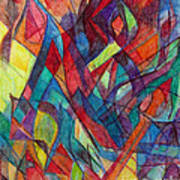 The Letter Alef 3 Art Print