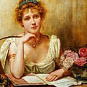 The Letter  Art Print by George Goodwin Kilburne