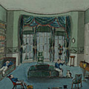The Library, C.1820, Battersea Rise Art Print by English School