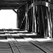 The Light At The End Of The Bridge Art Print