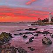 The Light House In New Haven Art Print