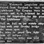 The Lighthouse Poem Art Print