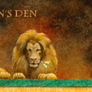 The Lion's Den... Art Print by Will Bullas