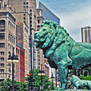 The Lions Of Chicago Art Print