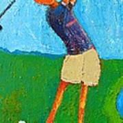 The Little Golfer Art Print