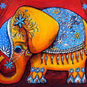 The Littlest Elephant Art Print
