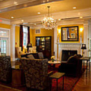 The Lobby Fireplace At The Sagamore Resort Art Print