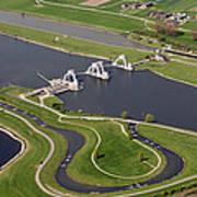 The Lock And Weir Complex Amerongen Art Print