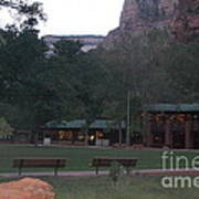The Lodge At Zion National Park Art Print