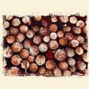 The Log Pile Art Print