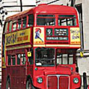 Vintage London Bus Art Print