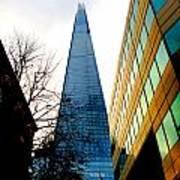 The London Shard In Blue No2 Art Print