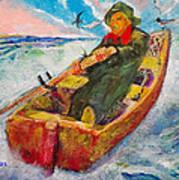 The Lone Boatman Art Print