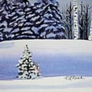 The Lone Christmas Tree Art Print