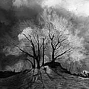 The Lonely Grave Art Print