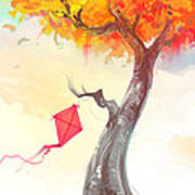 The Lonely Kite Art Print