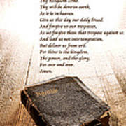 The Lord's Prayer And Bible Art Print by Olivier Le Queinec