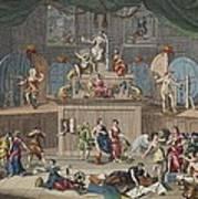 The Lottery, Illustration From Hogarth Art Print