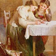 The Love Letter, 1871 Art Print