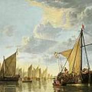 The Maas At Dordrecht Art Print by Aelbert Cuyp