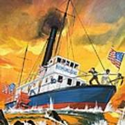 The 'madmen' Of The Mississippi Art Print by English School