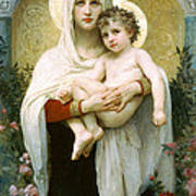 The Madonna Of The Roses Art Print