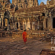 The Magical Light Of Bayon  Art Print by Pete Reynolds