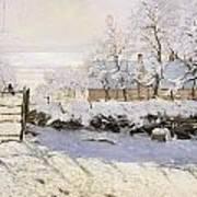 The Magpie Snow Effect Art Print by Claude Monet