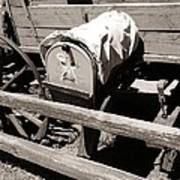 The Mailbox And The Wagon Art Print