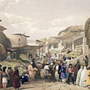 The Main Street In The Bazaar Art Print