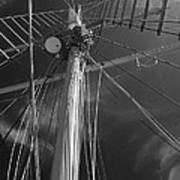 The Mainmast Of The Amazing Grace In Infrared Art Print