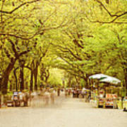 The Mall In Central Park New York City Fall Foliage Art Print