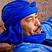 The Man In Blue Art Print