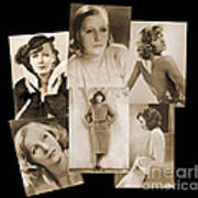 The Many Faces Of Greta Garbo Art Print