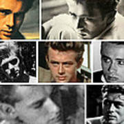 James Dean The Many Faces Art Print