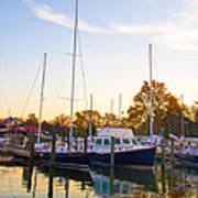 The Marina At St Michael's Maryland Art Print by Bill Cannon