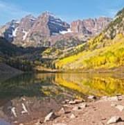 The Maroon Bells Near Aspen Colorado Art Print