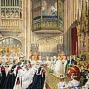 The Marriage At St Georges Chapel Art Print