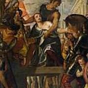 The Martyrdom Of Saint Mena Art Print