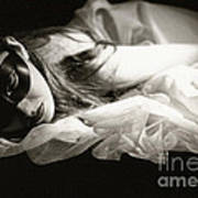 The Masked Woman Art Print by Sharon Coty